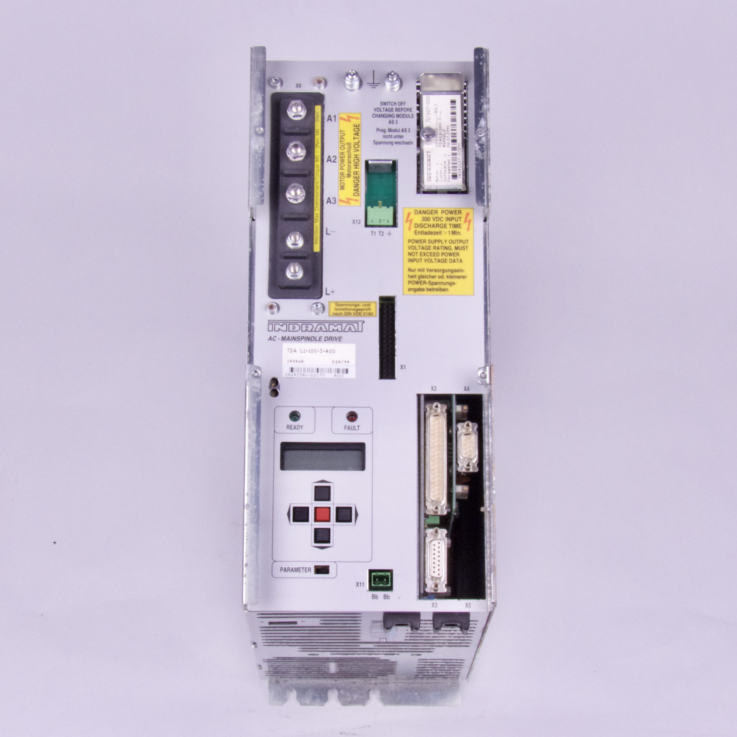 INDRAMAT AC-MAINSPINDLE DRIVE TDA 1.1-100-3-A00-W1